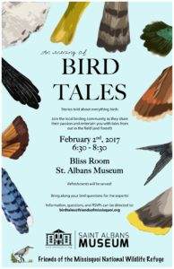 Bird Tales - an evening of birding stories @ St. Albans Museum / Bliss Room   Saint Albans City   Vermont   United States